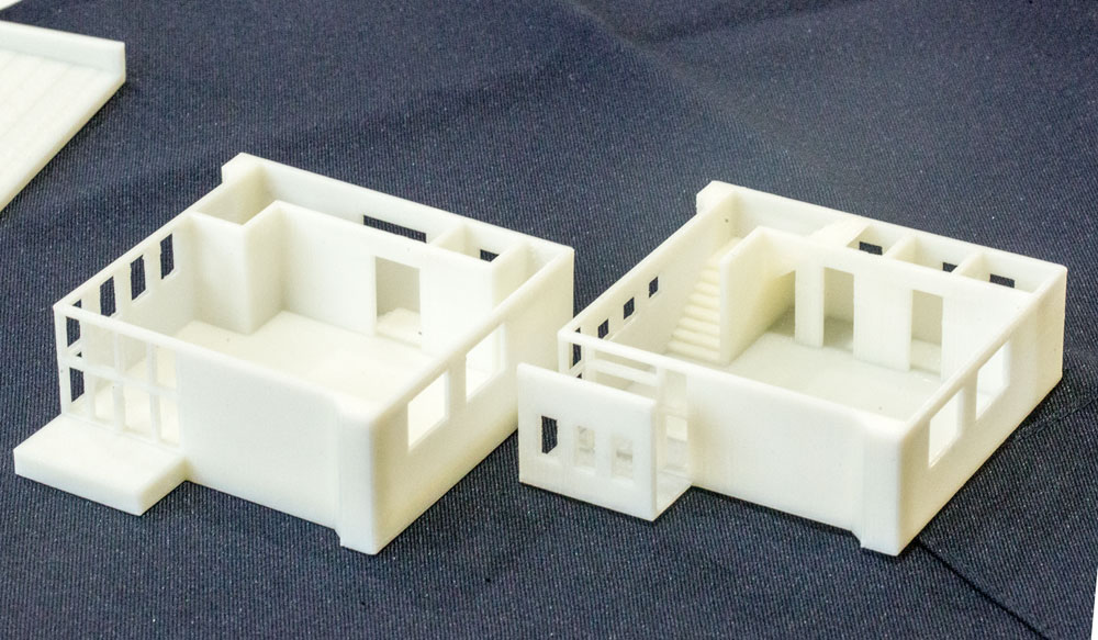 3Dプリンターで作成した建築模型