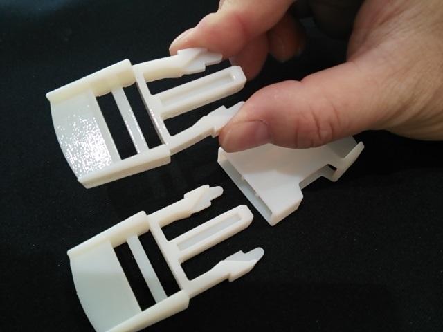 3Dプリンターで作ったバックル