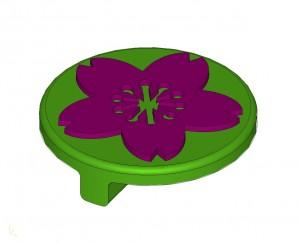 煉瓦とコラボ 3Dプリンターでスタンプ CADデータ