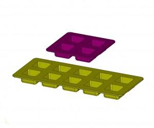 中山木型ブログ 食用のシリコン型 4個取り 10個取り