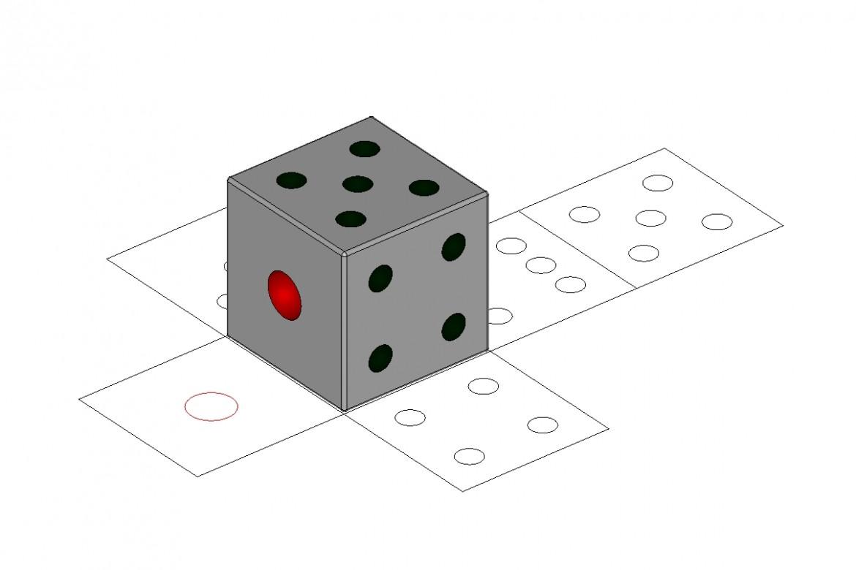 中山木型ブログ CAD説明用の画像 サイコロ1