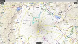 中山木型ブログ 立体地図の説明用 富士山 国土地理院の画像 その1