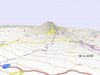 中山木型ブログ 立体地図の説明用 富士山 国土地理院の画像 その2